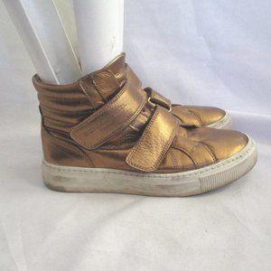 SONIA RYKIEL Leather HiTop Fashion Sneaker TRAINER